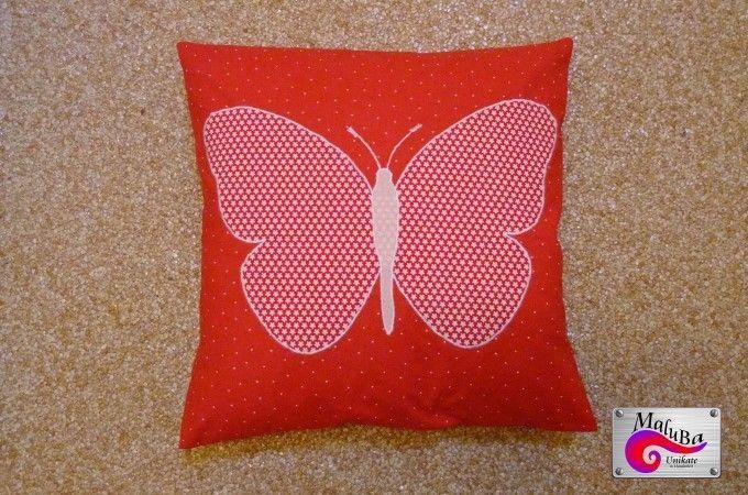 """Kissen+""""Schmetterling""""+von+MaluBa+auf+DaWanda.com"""
