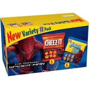 Keebler The Amazing Spider Man Cheez It Grahams Bites Variety Pack 12ct
