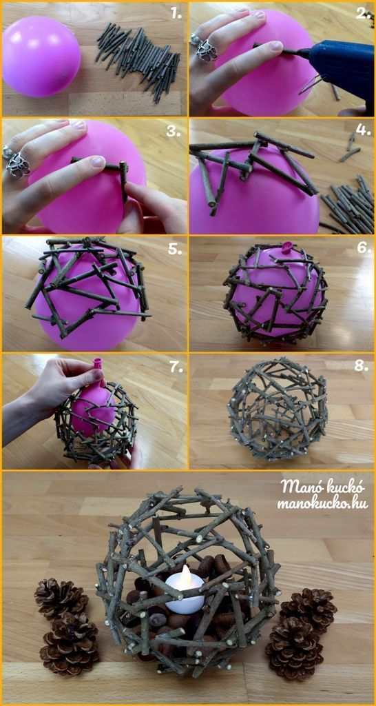 Photo of Autumn decoration – cozy ball made of branches – goblin #christmas crafts …