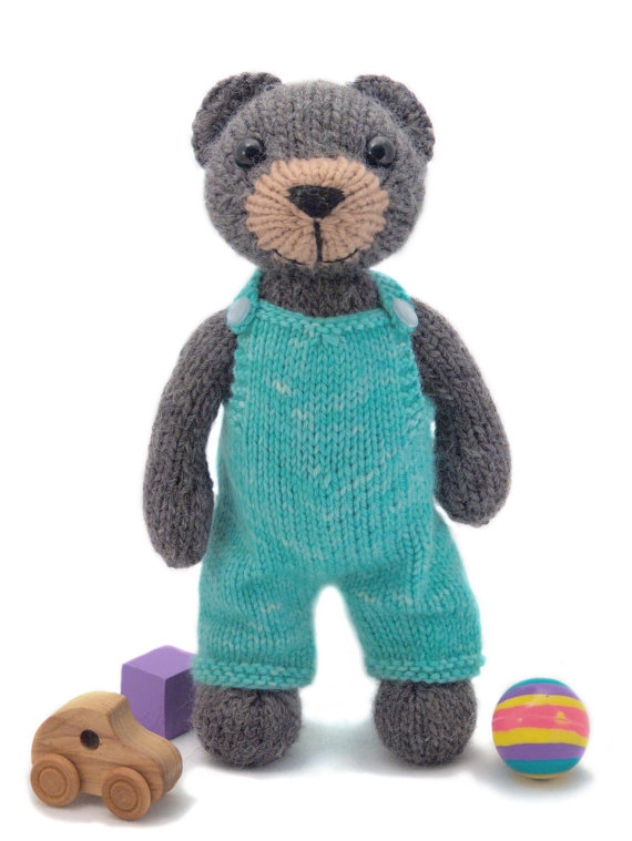 Big Teddy Knitting Pattern by fuzzymitten on Etsy (With ...