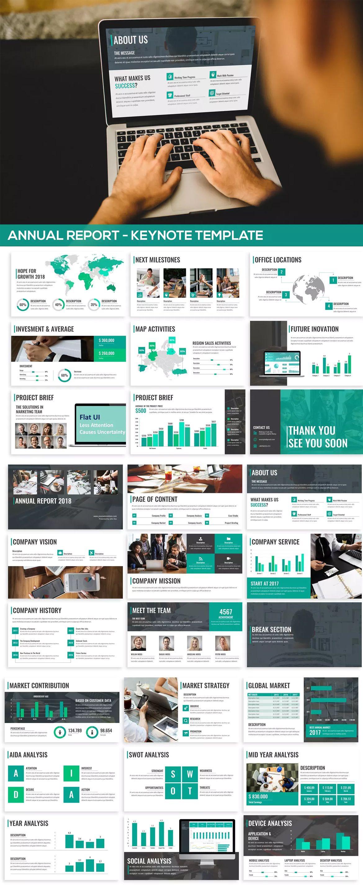 annual report - keynote presentation template - 1200 total slides, Latest Presentation Templates, Powerpoint templates