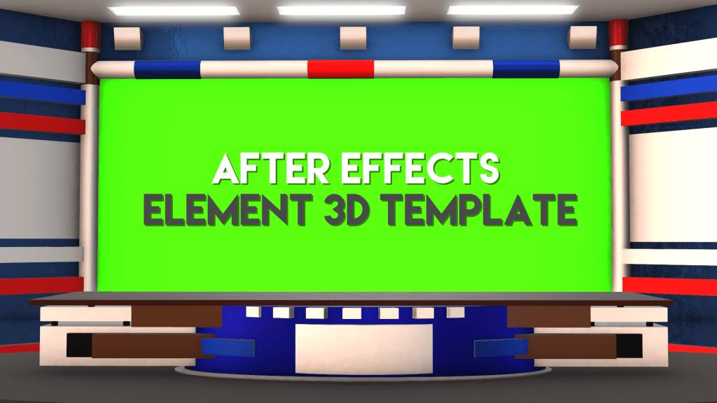Virtual Studio News Desk Free Adobe After Effects Element 3d Template Mtc Tutorials Virtual Studio Digital News Greenscreen