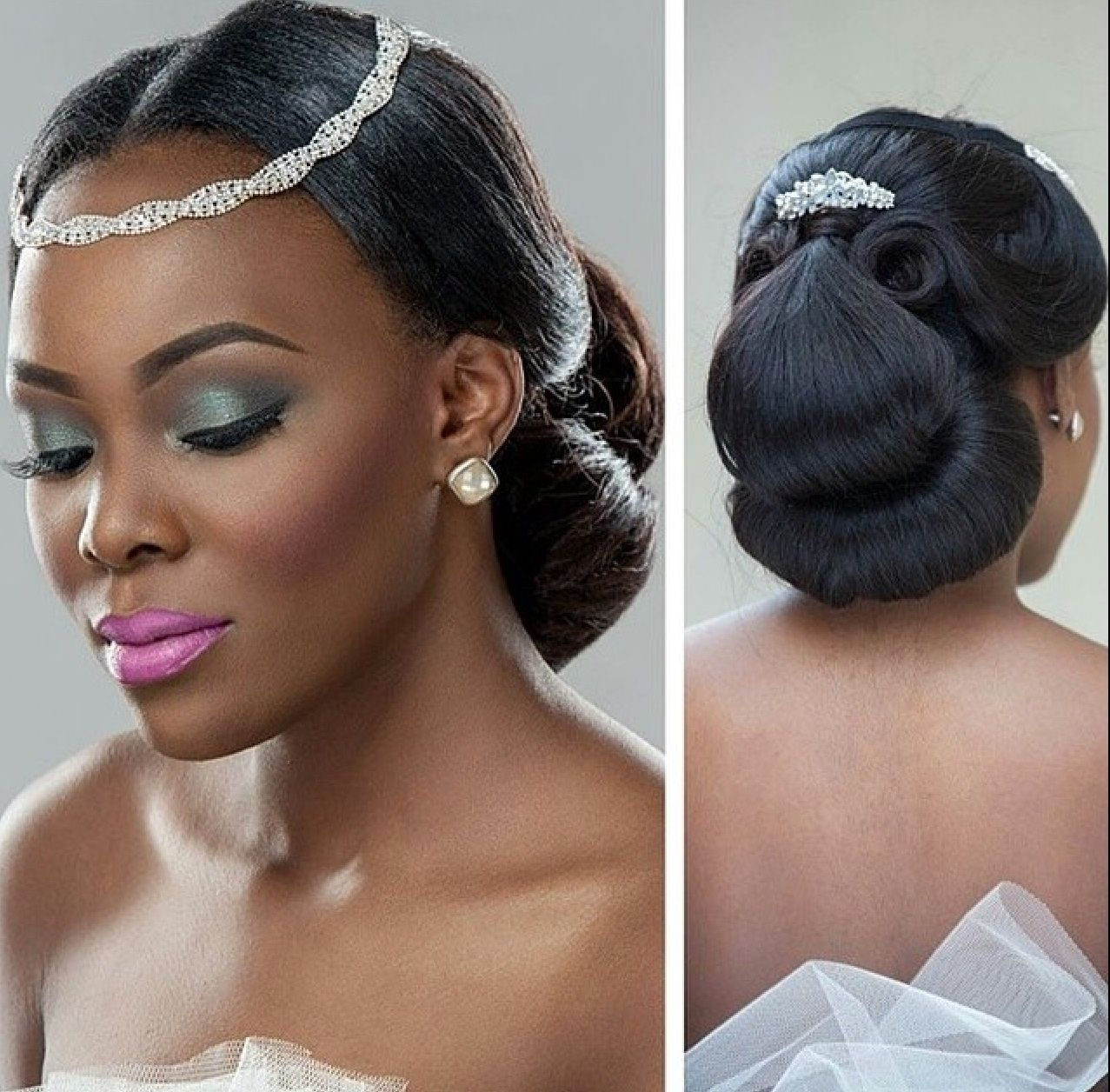 Wedding Hairstyle Photos: Alluring Wedding Makeup For Black Brides