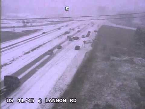▶ Multi-vehicle crash on Highway 41/45 at Lannon Rd. crazy!!!!