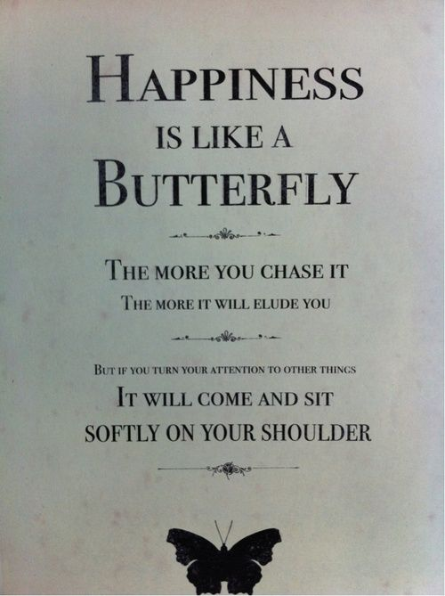 Happiness is like a butterfly... *-*