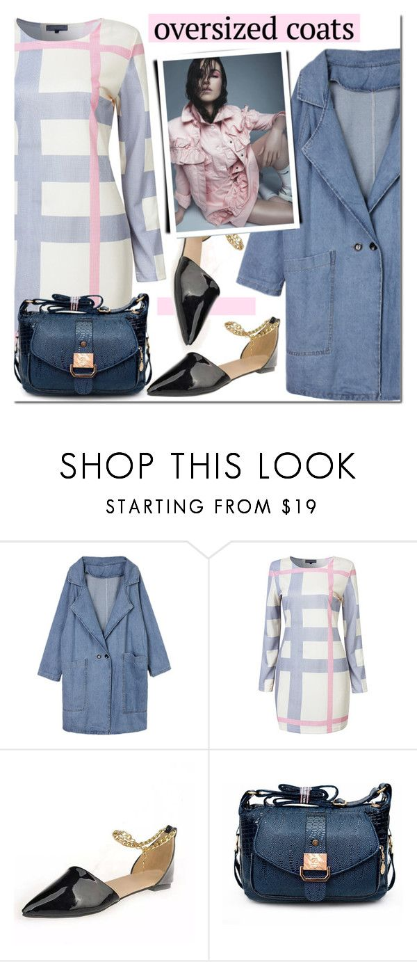 """""""NEWCHIC oversized coat"""" by mada-malureanu ❤ liked on Polyvore featuring GetTheLook, oversizedcoats and lovenewchic"""