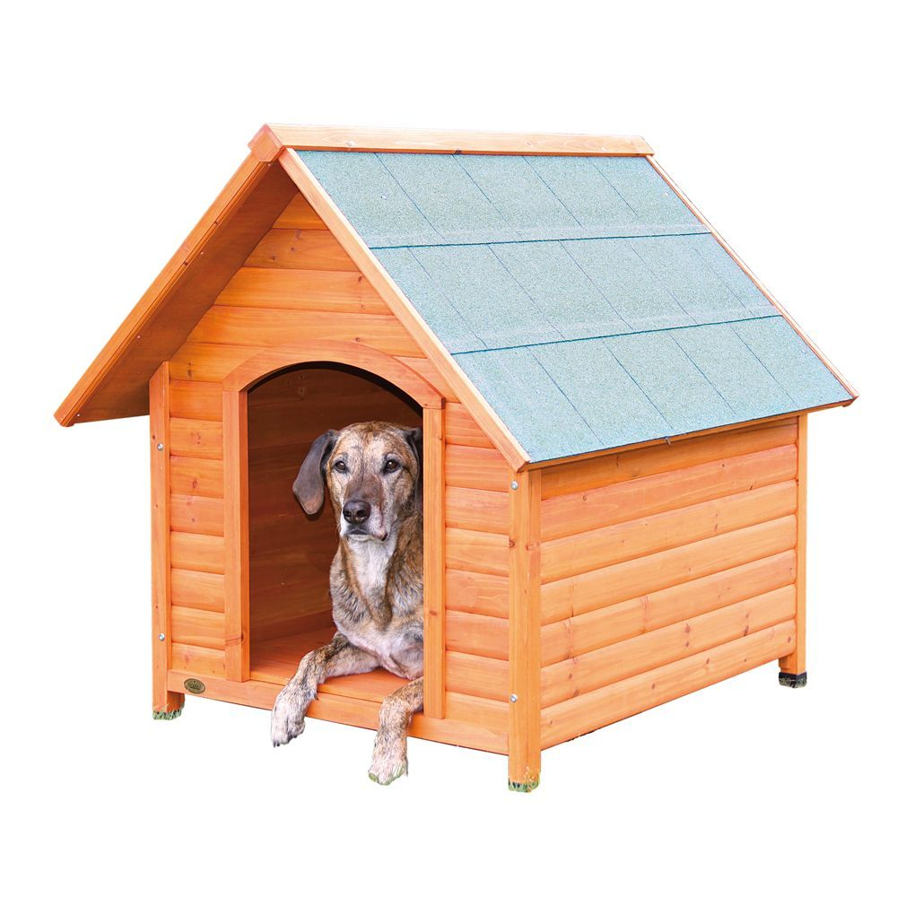 Trixie S Log Cabin Dog House Size 37 75 L X 44 W X 41 25 H Tan