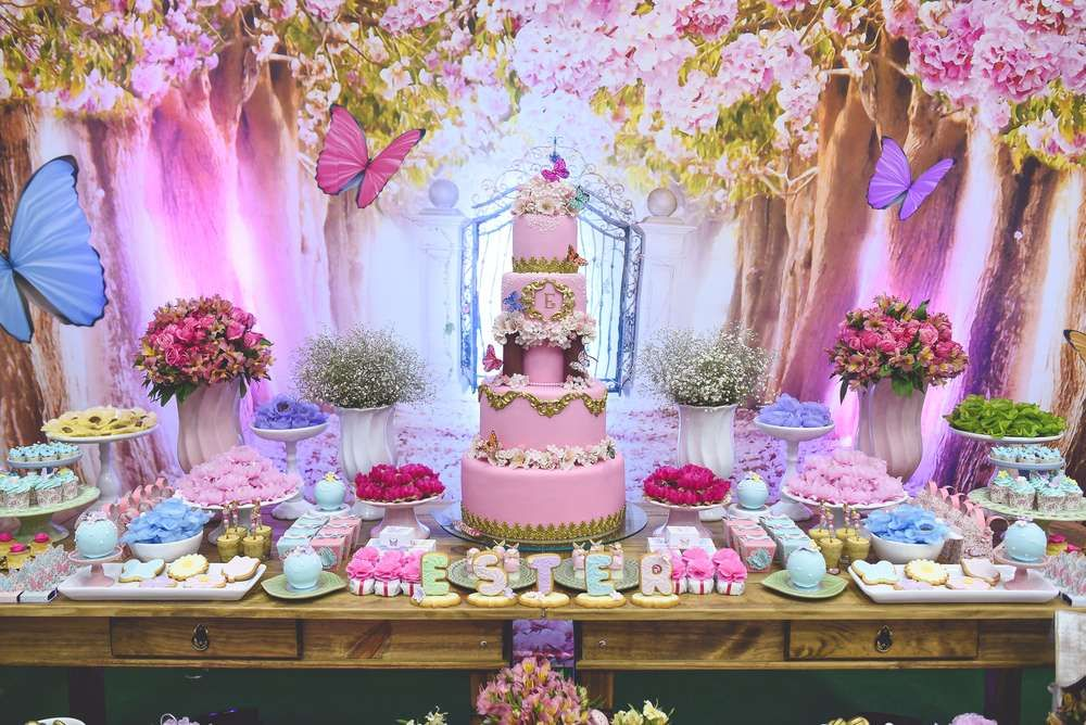 What A Gorgeous Butterfly Garden Birthday Party See More Ideas At CatchMyParty