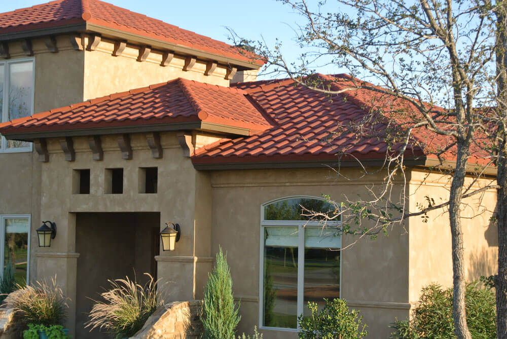 Stone Coated Metal Roof Tile Cost Design Options Advantages Metal Roof Tiles Modern Roofing Metal Roof