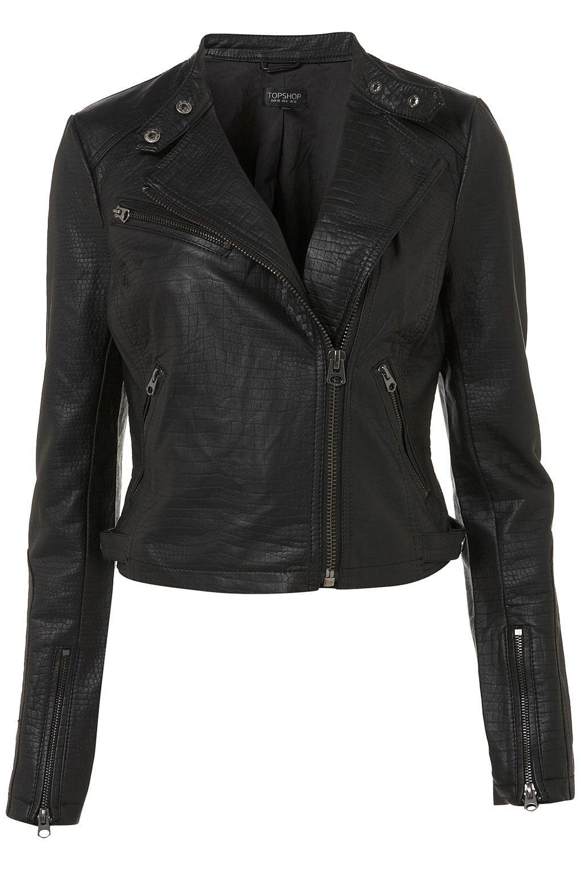 CROC CLEAN BIKER JACKET faux leather Clothes