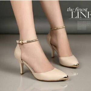 Sandal Heels Wanita Gp 06 Cream Sepatu Wanita Sandal Tali
