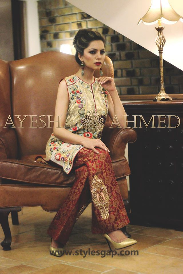 cf75609e3c1 Ayesha Ahmed Formals Party Wear Dresses Designs 2018-19 Collection ...
