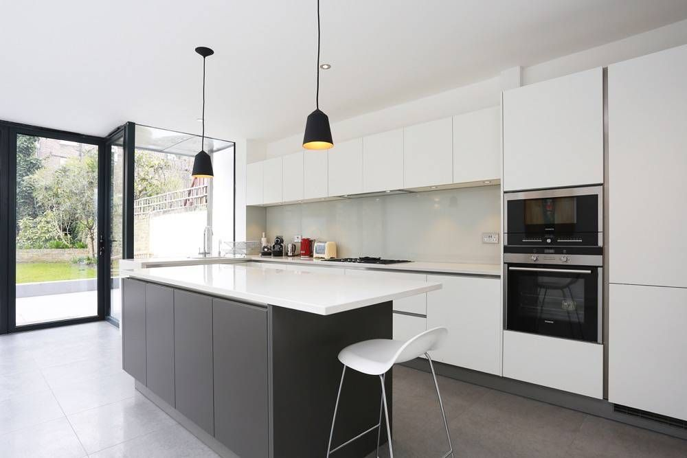 Best Grey And White Kitchen Island Extension From Lwk Kitchens 400 x 300