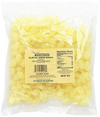 Claeys Sanded Candy Drops, Lemon, 2 Pound   Best Home   Hard