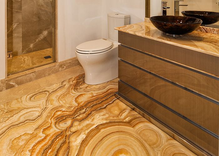Onyx Floor And Countertop   Bathroom flooring, Neutral bathroom decor,  Bathroom inspiration decor