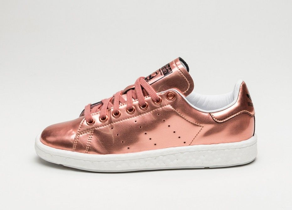 adidas stan smith boost w copper metallic copper metallic