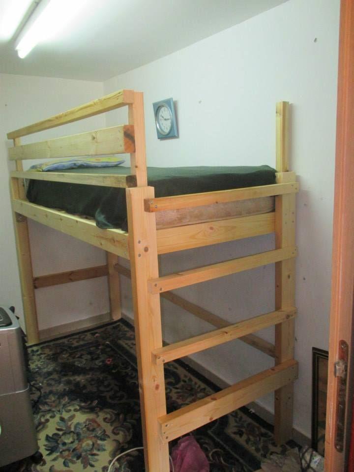 Homemade Loft Bed Sneak Peak Penniless Parenting Diy