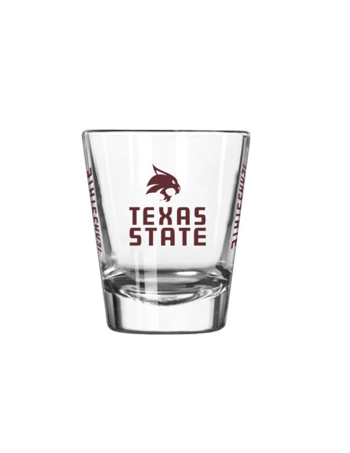 Txst Shot Glass Barefoot Campus Outfitter Shot Glass Store Gift Cards Shots