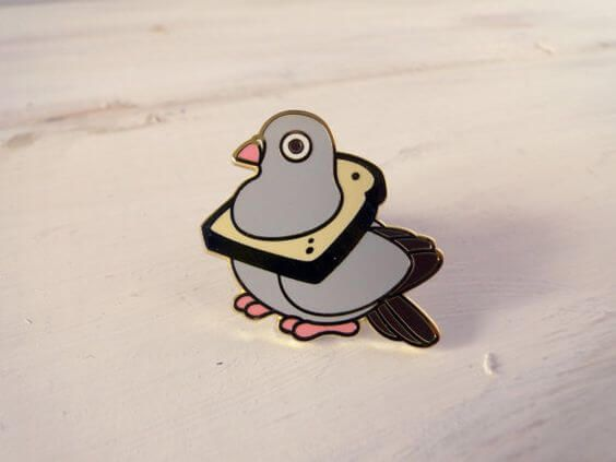 Latest Funny Pins 15 Funny Pins That'll Make You Laugh - Wovenlabelhk Bread Pigeon Enamel Pin by Red Ribbon Shoppe. wovenlabelhk.com 10