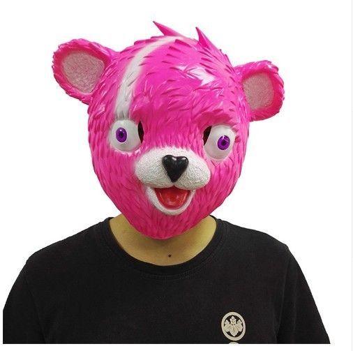 fortnite pink bear halloween mask free shipping - fortnite pink bear head