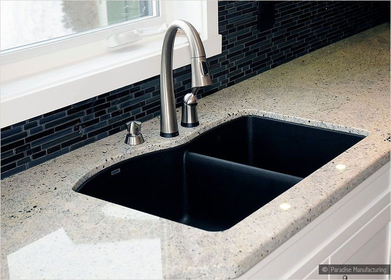 Kashmir White Granite Backsplash Ideas Part - 38: Kashmir White Granite With Backsplash | Black Galaxy Blue Glass Backsplash  Tile Kashmir White Granite