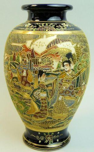 ANTIQUE-JAPANESE-MEIJI-PERIOD-SATSUMA-POTTERY-VASE-C-1900