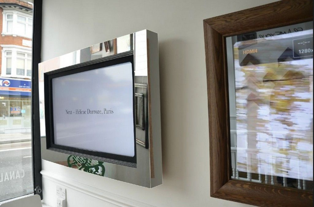 Diy flat screen tv frames framed tv living room redo