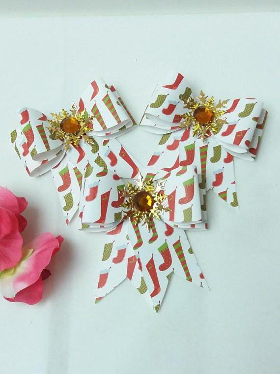 set of three large christmas gift bows christmas gift bows