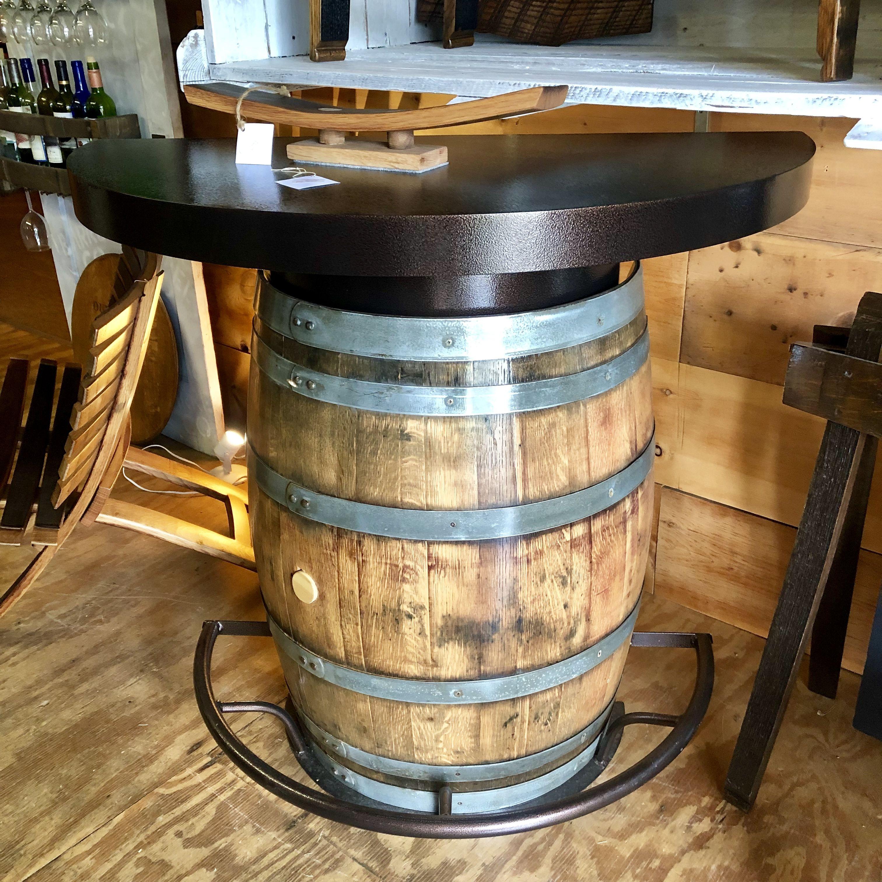 Half Barrel Bistro Bar Barrel Table Barrel Bistro