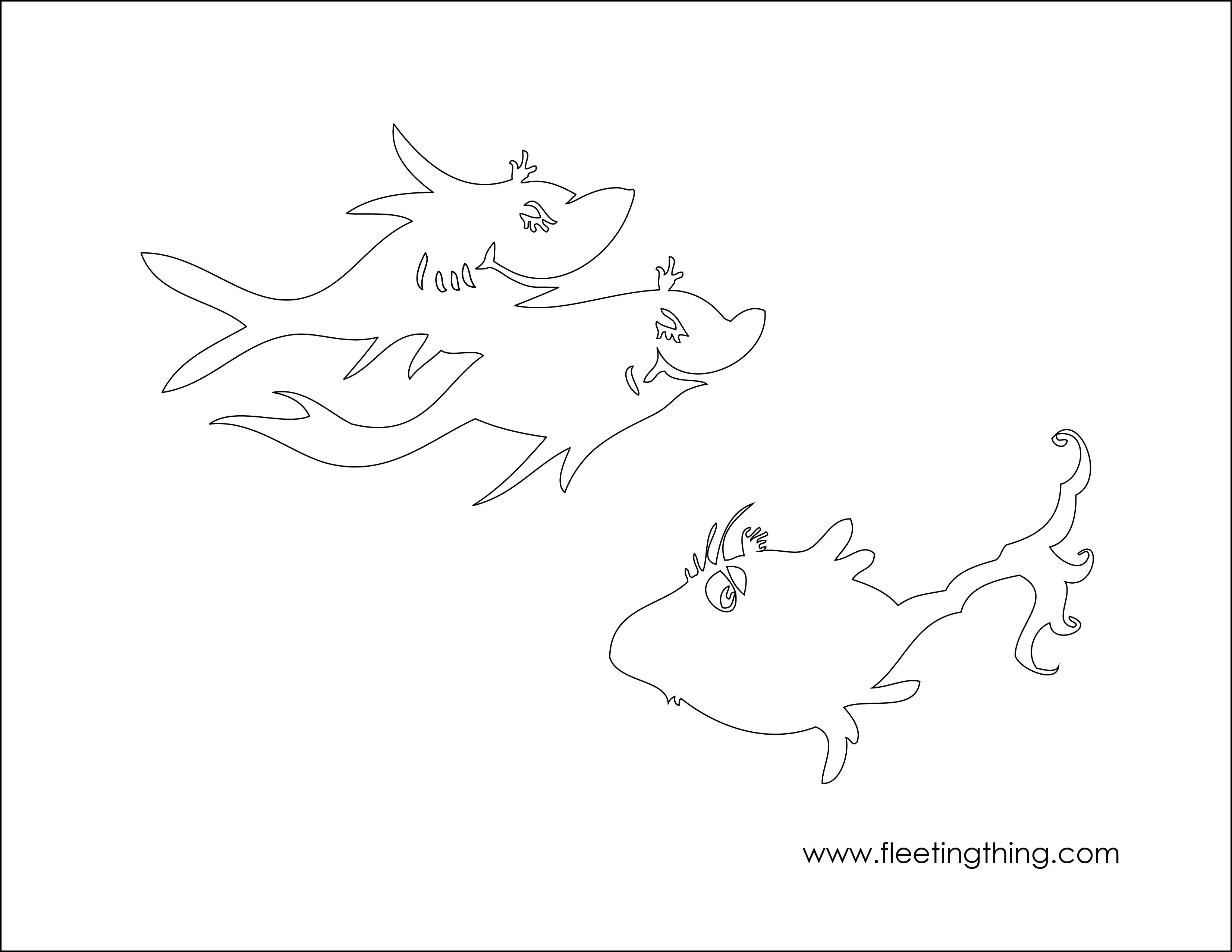 Free Coloring Pages Download Seuss Fish Colouring Page 3 Kidsplay Pinterest Of One