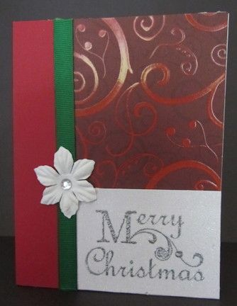Simple Christmas card. Quick and Easy.