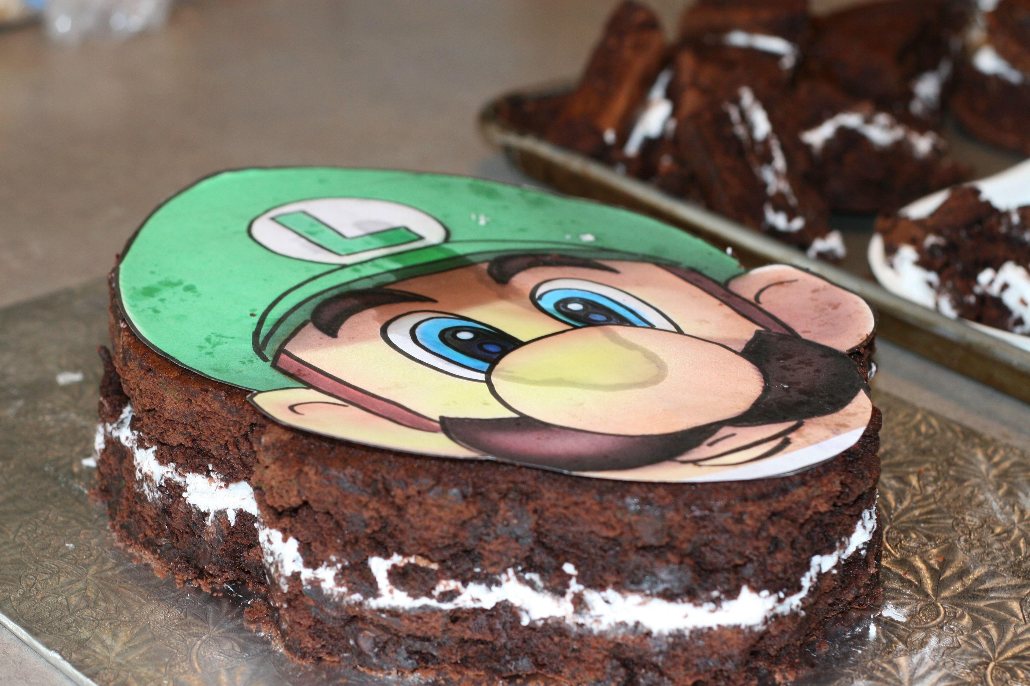 Luigi Birthday Cake