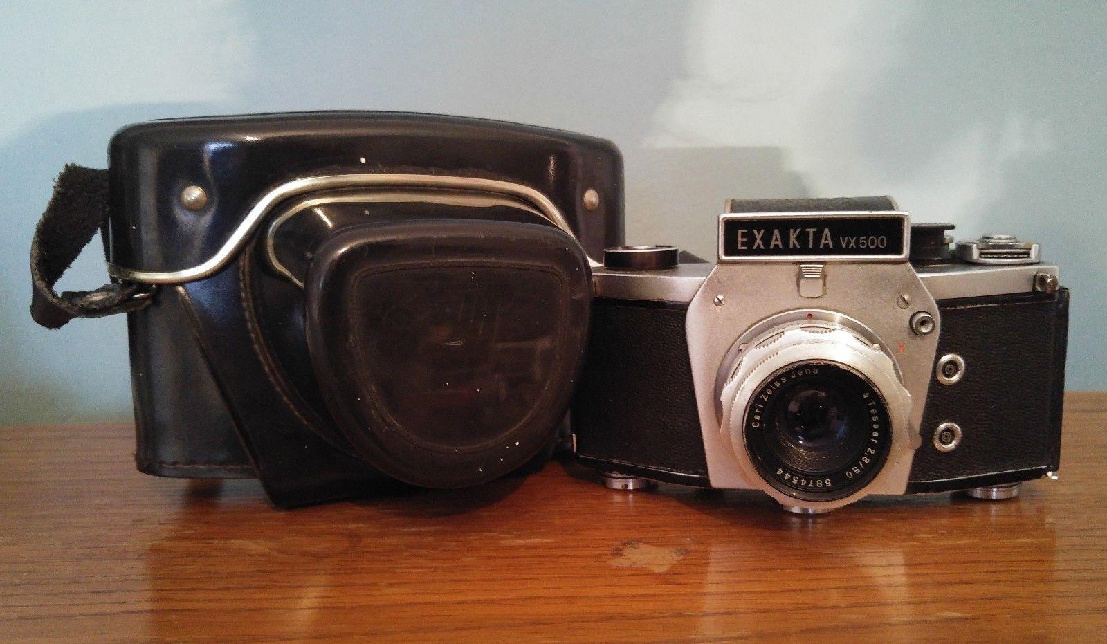 Vintage Exakta VX500 photo film camera with Carl Zeiss Jena Tessar Bayonet Lens | eBay