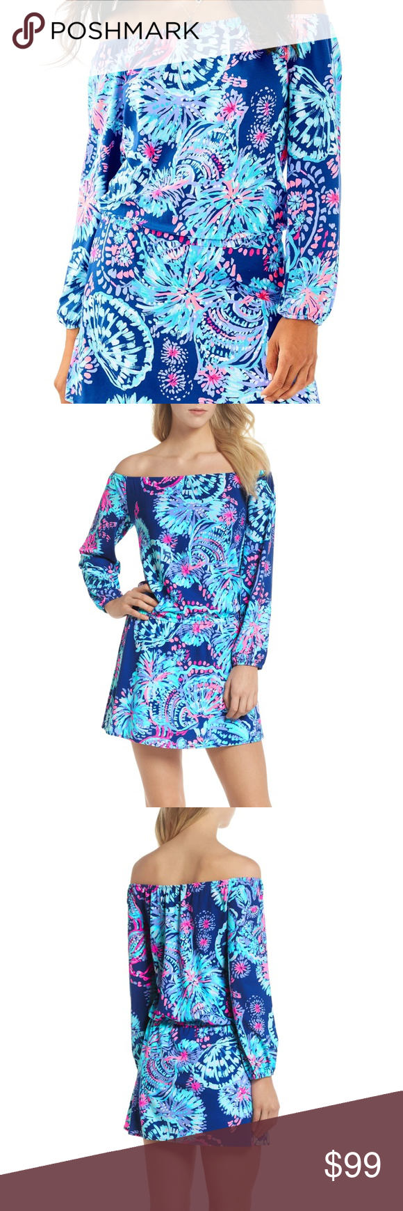 0edb14e83ec Lilly Pulitzer Lana Skort Romper Color  Deep Indigo Gypsea Girl Size  XS  This vibrant