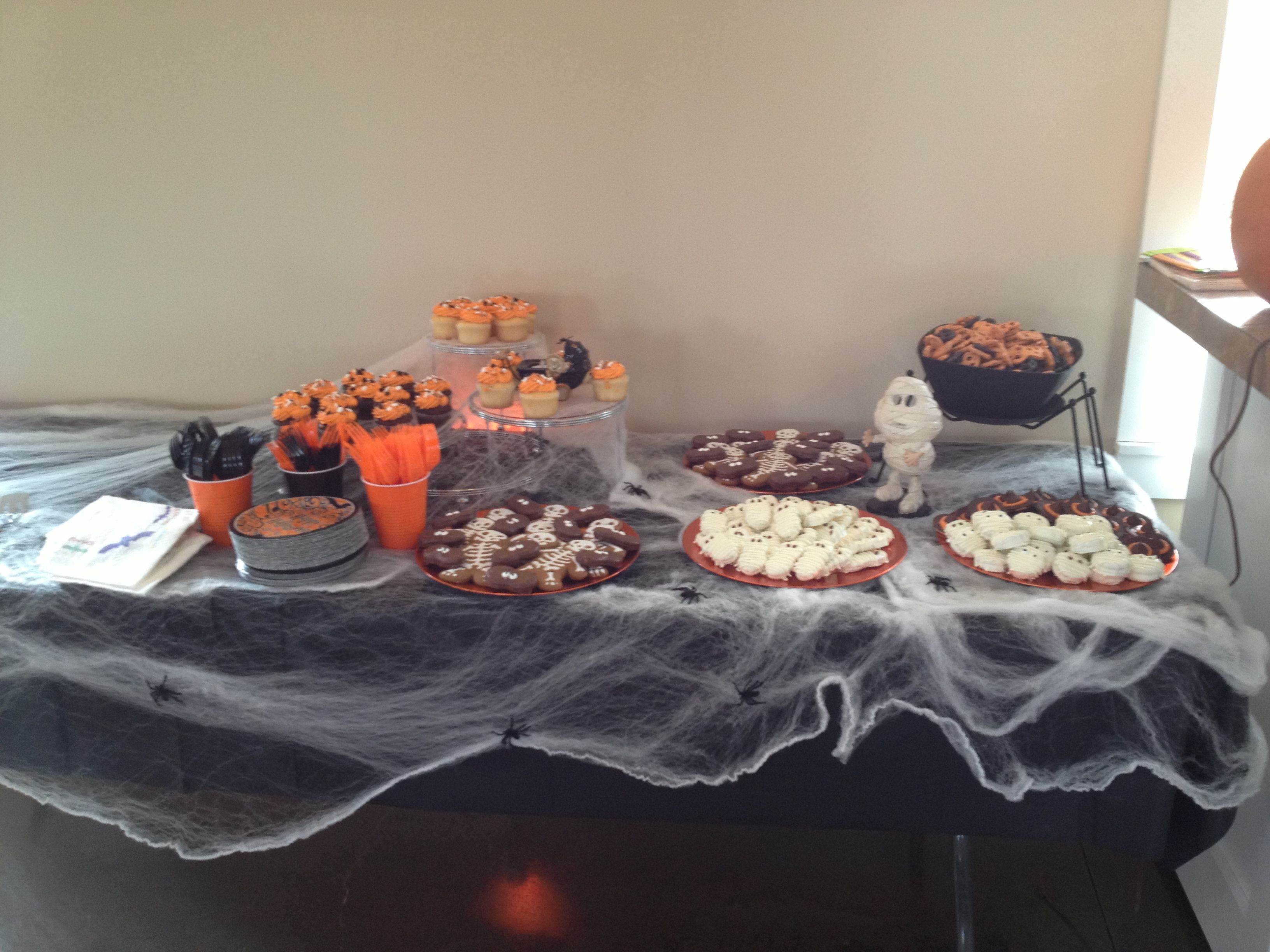 halloween themed baby shower spooky dessert table | our events