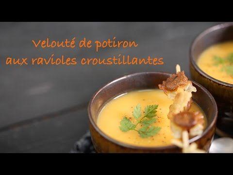 Velouté de potiron aux ravioles croustillantes - vidéo recette Interfel - Les fruits et légumes frais