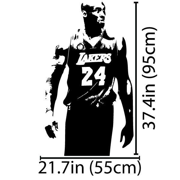 Kobe Bryant White Window Decal
