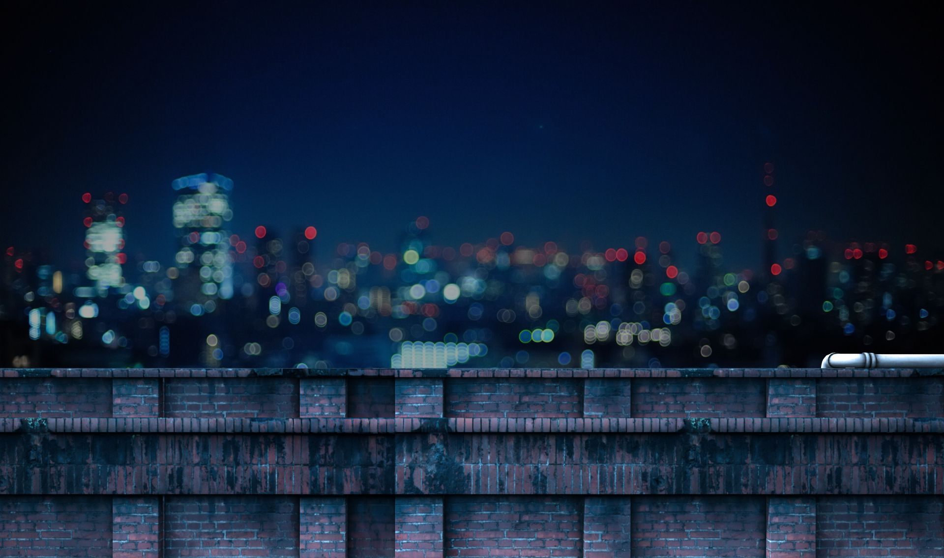 Ext Rooftop View Night Night Background Episode Backgrounds