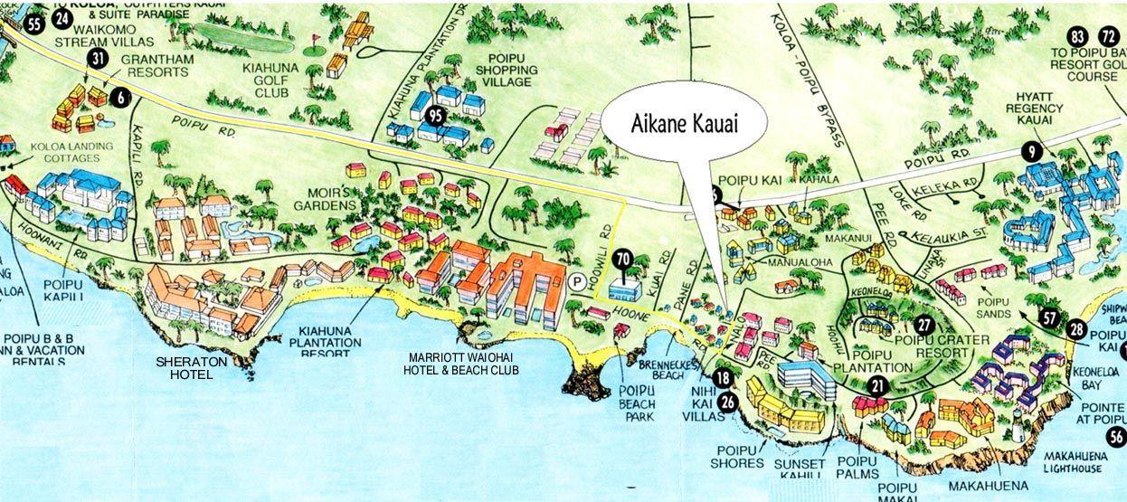 Map Of Kauai Hotels 2018 World S Best Hotels