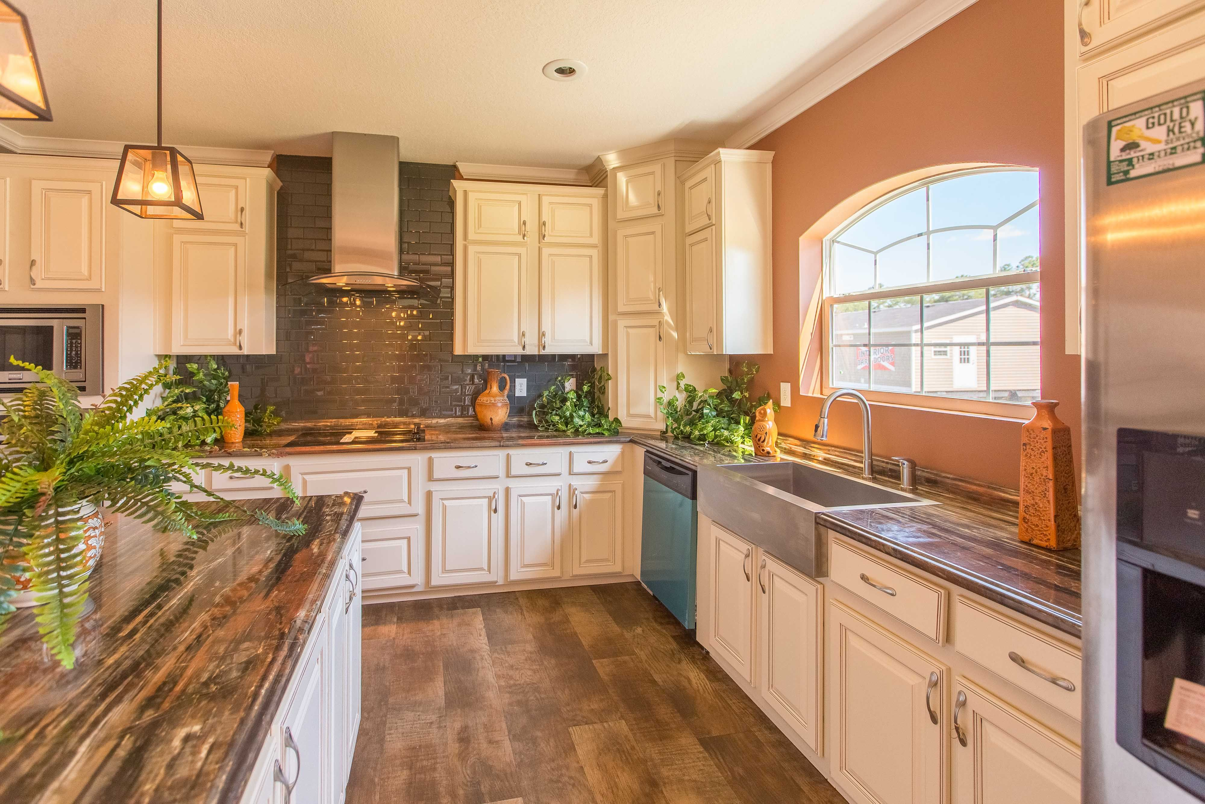Modern Kitchen Subway Tile White Cabinets Stainless Steal Appliances Martywrighthomes Com Heritage Manufactured Home Modern Kitchen Subway Tile Home