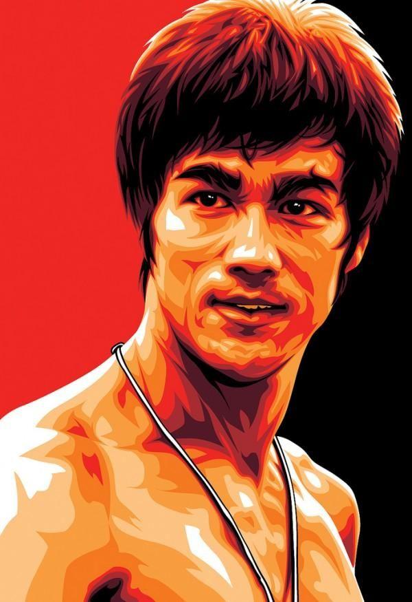 Illustrations By Mel Marcelo Bruce Lee Retrato Vetorial E