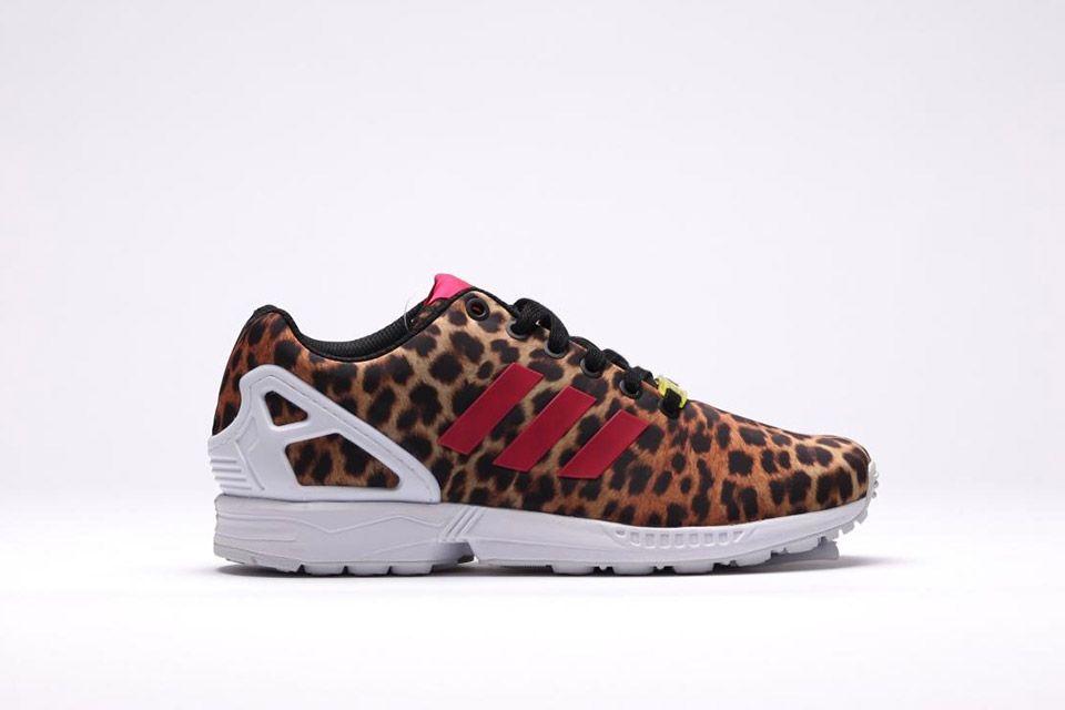 adidas zx flux rose leopard