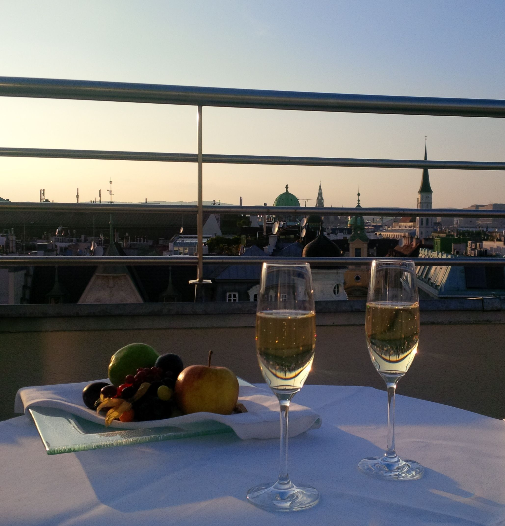 Sunset View Apartments: View From The Apartment Terrace. #Vienna #sunset