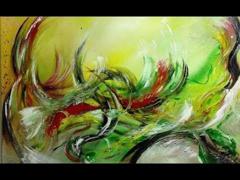 Abstract Acrylic Painting Palette Knife Spachteltechnik
