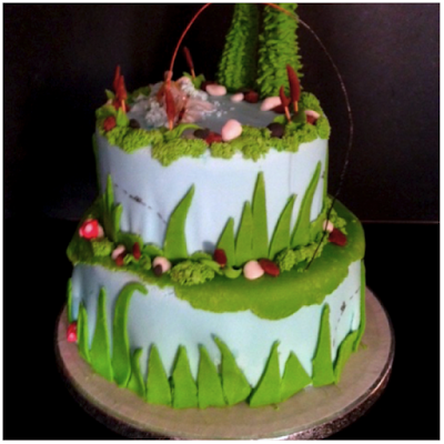 La fleur du chat: Cake design..torta per pescatori a mosca