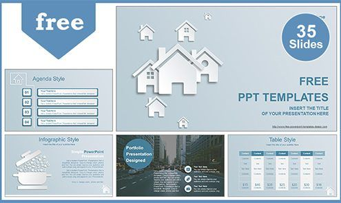 Real Estate House Ions Powerpoint Template List Powerpoint