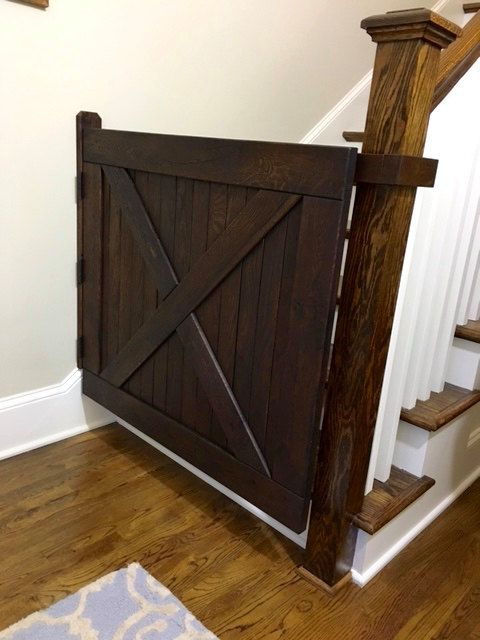 Solid Oak Baby Gate Or Pet Gate Made With Reclaimed Wood Free