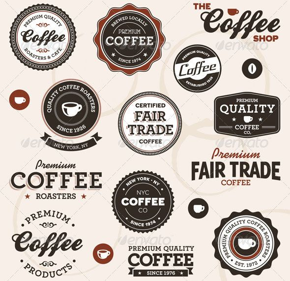 Vintage-coffee-labels Design Pinterest Vintage coffee - product label template