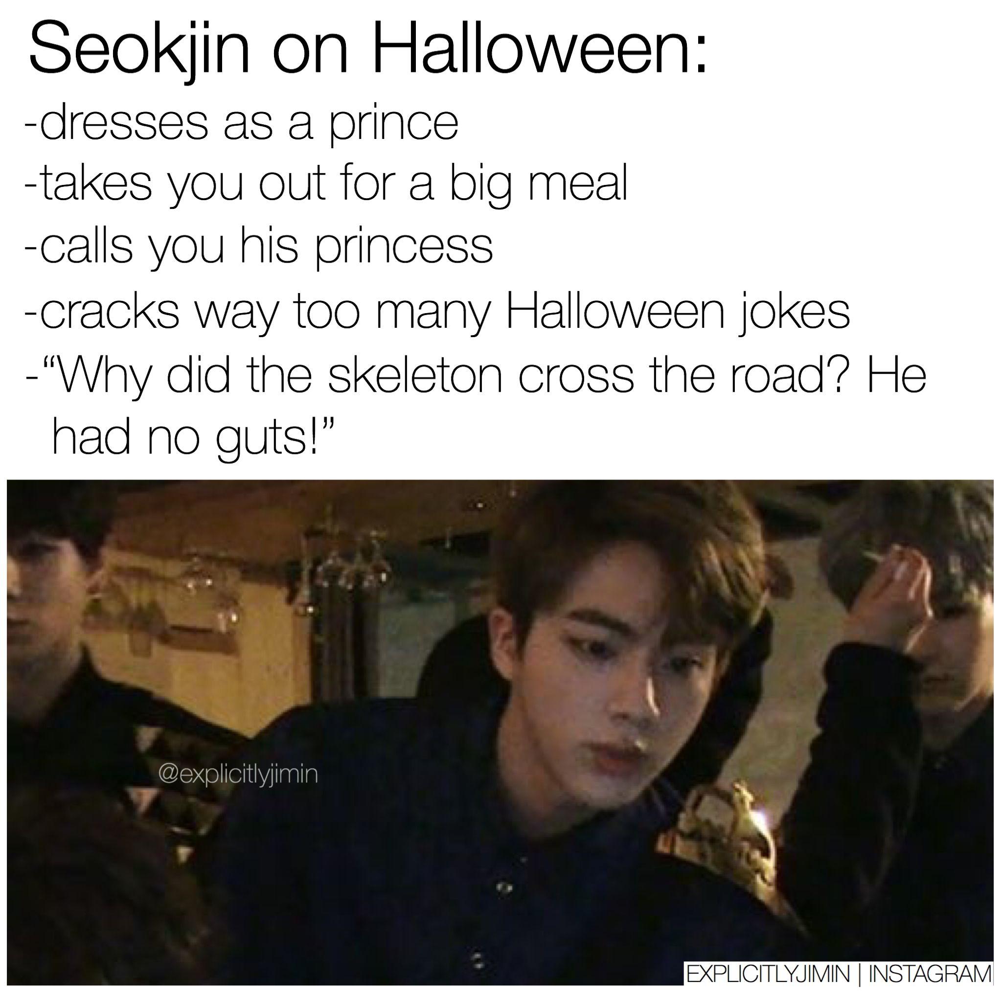 Halloween Seokjin Imagine | kmemes | Bts, Bts jin, Bts scenarios