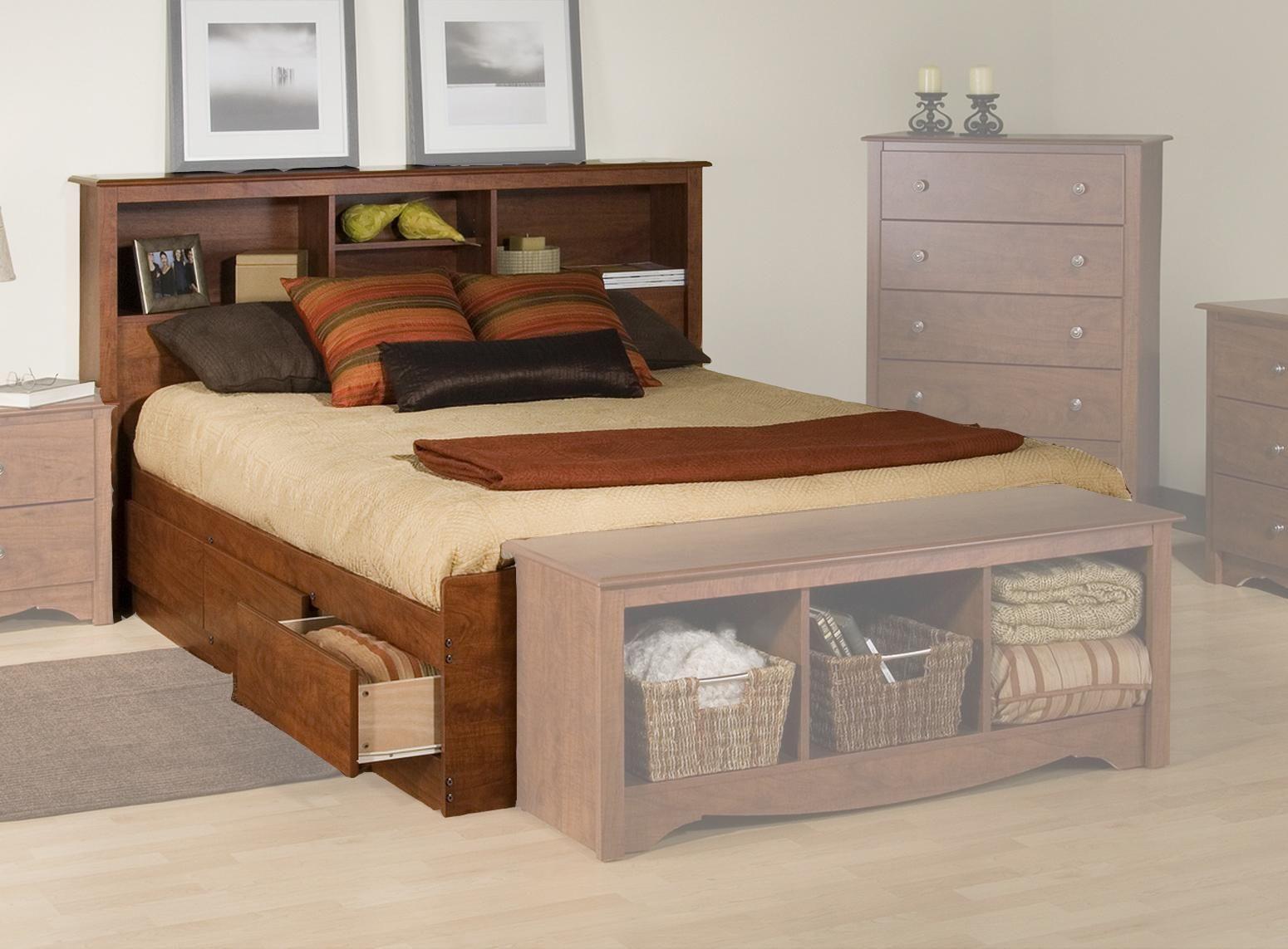 Remarkable bedroom design with wooden floor also rustic wood